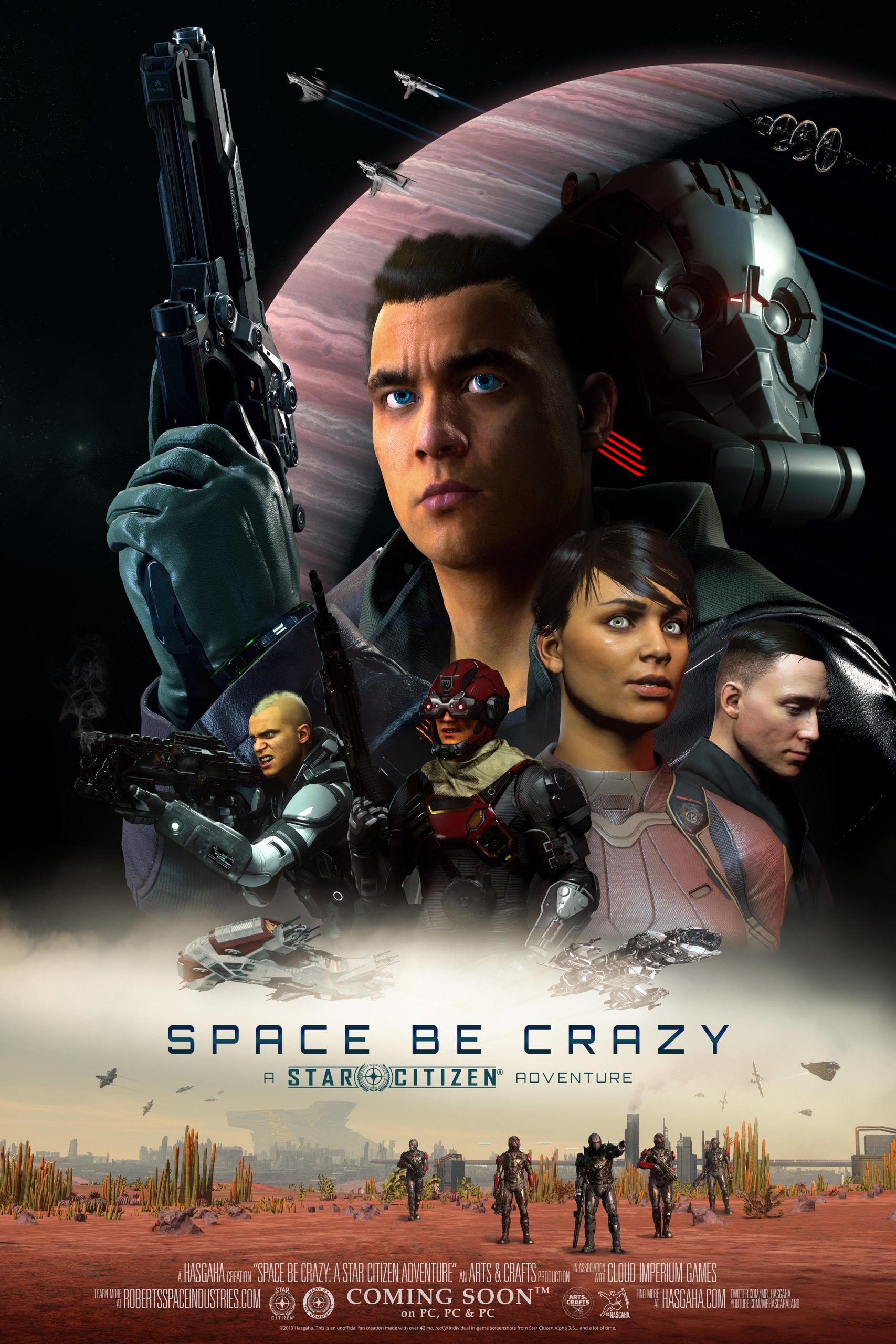 """""""Space Be Crazy"""" Mock Movie Poster"""